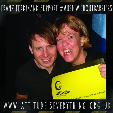 Franz Ferdinand support music without barriers