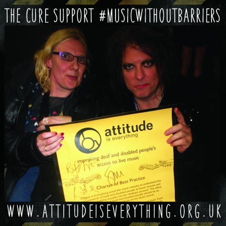 The Cure support music without barriers