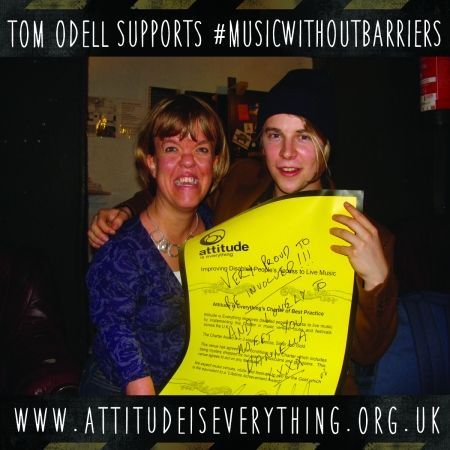 Tom Odell supports music without barriers