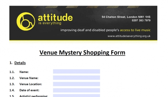 Screenshot of the Mystery Shopping form