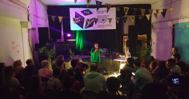 Lizzie Emeh performing at DIY Space for London