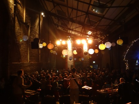 Wave Machines onstage at Village Underground in 2013