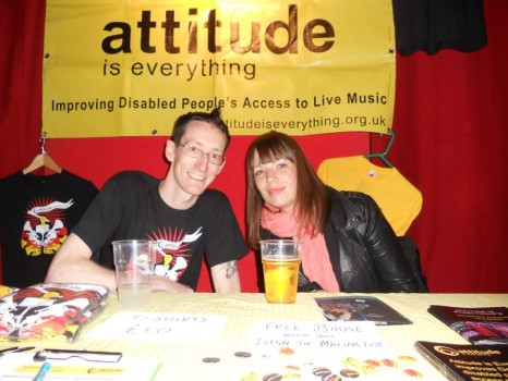 Tom and Jo manning the stall at Rich Mix