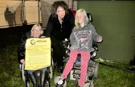 Suzanne and Naomi with Robert Smith from The Cure